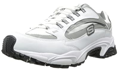 Skechers Men's Stamina Nuovo Oxford,White,8 XW US
