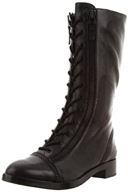 Via Spiga Women's Gwendolyn Flat Boot,Black,5 M US