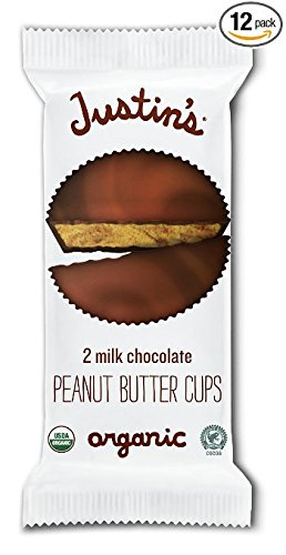 Justin's Organic Milk Chocolate Peanut Butter Cups 1.4oz (Pack of 12)