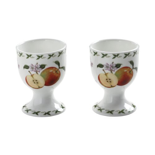 Maxwell & Williams Orchard Fruits PB8405 Egg Cups Set of Two with Apple Motif in Gift Box orchard