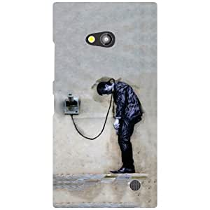 Nokia Lumia 730 Back Cover - Let Me Talk Designer Cases