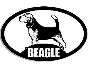 Amazon.com: Oval BEAGLE Silhouette Sticker (dog breed): Automotive