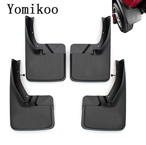 Mud flaps,Yomikoo Splash Guards Front and Rear Mud Flaps Models Ram Mud Guards OEM Deluxe Molded For 2011-2016 Dodge Ram 1500 2500 3500 Full Set 4pcs With logo (Truck Mud Flaps Dodge Ram compare prices)