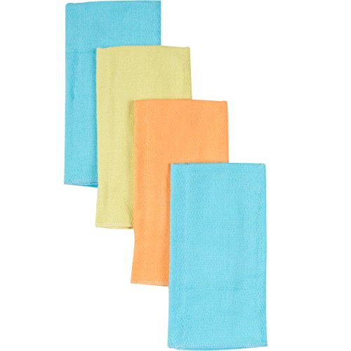 Gerber Birdseye Diaper Burp Cloths, Green, 4 Count