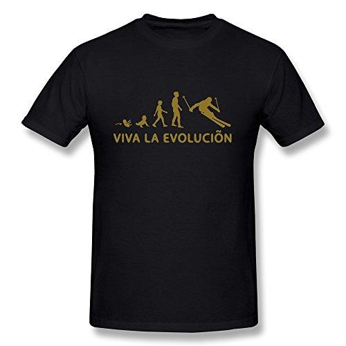 Viva La Evolution Ski Mens High Quality Tee Shirts
