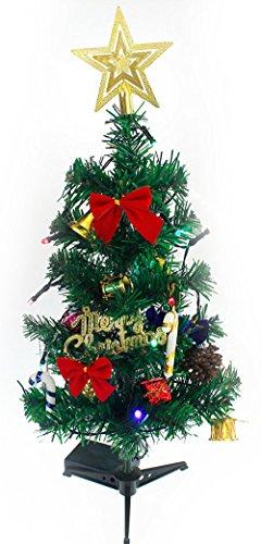 (IN MODE) 卓上 クリスマスツリー 50cm 電池式 LED 電飾 ...