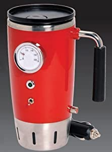 Retro Heated 12V Travel Mug Red