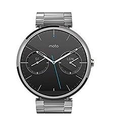 Motorola Moto 360 Androidwear Smartwatch 1st Generation - 46mm (Certified Refurbished) (Light Metal - Slim Fit)