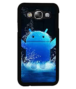 PRINTVISA Anrriod symbol Premium Metallic Insert Back Case Cover for Samsung Galaxy E5 - E500F - D5908