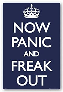 Now Panic and Freak Out Poster 24x36 UK England 33566 Poster Print, 24x36