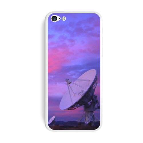 Graphics And More Very Large Array Vla Radar Telescope Dishes New Mexico At Sunset Protective Skin Sticker Case For Apple Iphone 5C - Set Of 2 - Non-Retail Packaging - Opaque