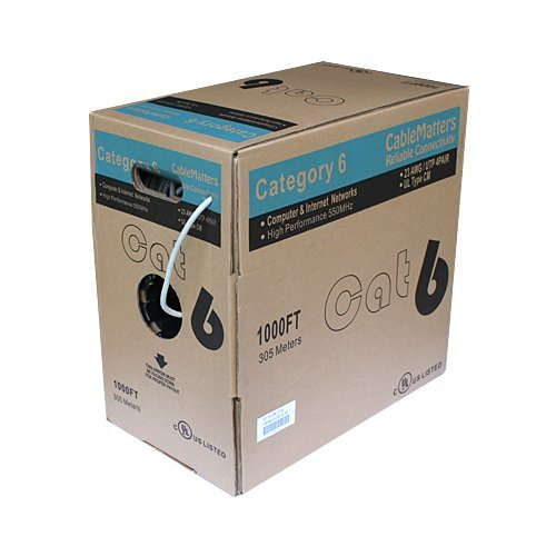 Cable Matters Cat6 In-Wall Rated (CM) Ethernet Bulk Cable in Grey 305 Metres Black Friday & Cyber Monday 2014
