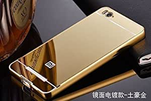 CHL Metal Bumper Acrylic Mirror Back Cover Case For Xiaomi Redmi Mi4i ( XIAOMI MI4I ) - GOLD