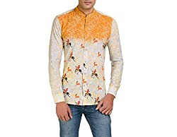 Color-Buckket Men's Casual Shirt_CB505_White_XXL