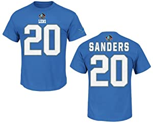 Detroit Lions Barry Sanders Light Blue Big and Tall Name and Number T-Shirt by VF