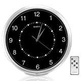 Securityman ClockCamDVR Wall Clock Color Camera with Micro SD Recorder and Remote Control (Black)