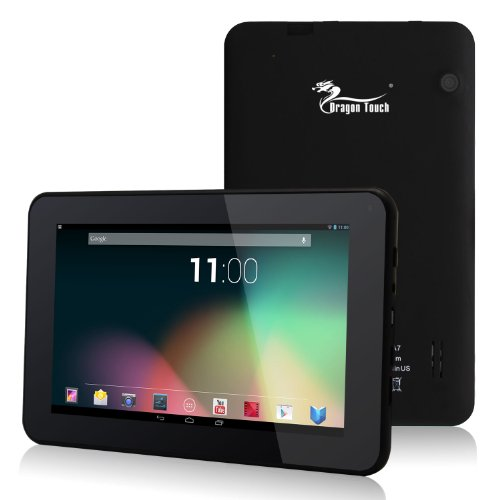 """Dragon Touch® A7 7"""" Google Android 4.2 Jelly Bean Dual Core Tablet PC, Allwinner A20 Dual Core Cortex A7 CPU, 8GB HDD, 1024×600 Resolution, Multi-Touch Screen, Front Camera + Rear Camera, Google Play Pre-Installed, HDMI 2160P Output, Skype Video Calling, Netflix, Flash Supported [By TabletExpress] Reviews"""