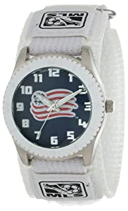 Game Time Mens MLS-ROW-NE New England Revolution Rookie White Round Analog Watch by Game Time