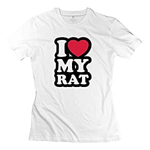 Love Rat Custom T Shirt Women Short Sleeve White