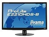iiyama 21.5インチワイド液晶ディスプレイ 1920×1080(フルHD1080P)対応 3系統入力装備 マーベルブラック PLE2210HDS-B1