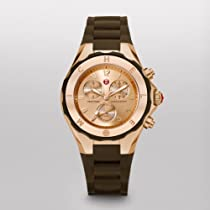 MICHELE Tahitian Jelly Bean Rose Gold Tone, Brown Dial