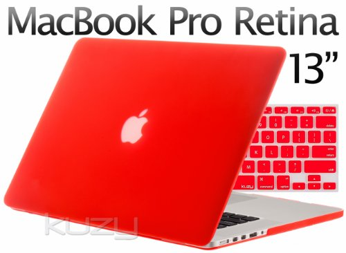 Review:  Kuzy - 2in1 Retina 13-Inch RED Rubberized Hard Case and Keyboard Cover for Apple MacBook Pro 13.3