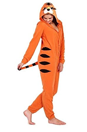 FBA Loungeable Boutique Tiger Unisex Womens Mens Animal Hooded Onesie All In One RRP £49.99 (L)