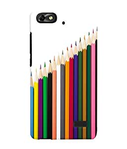 Fuson 3D Printed Coloured Pencils Designer Back Case Cover for Huawei Honor 4C - D646