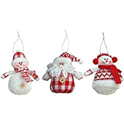 Leoy88 3pcs Christmas Tree Ornaments Snowman Hanging Pieces