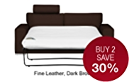 Finn (No Dock) Large Sofa Bed - Leather