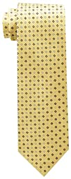 Tommy Hilfiger Men\'s Core Neat II Tie, Yellow, One Size