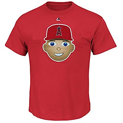 Mike Trout Los Angeles Angels of Anaheim #27 MLB Youth Emoji Name & Number T-Shirt