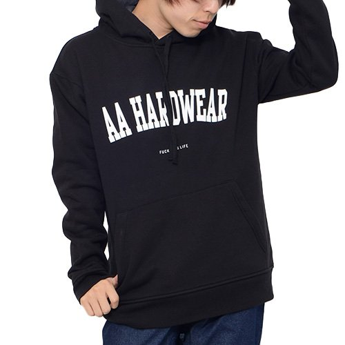 AA HARDWEAR(ダブルエー ハードウェア) プルオーバー 撥水 パーカー THE HOODIE スノボ スノーボード メンズ レディース Lサイズ BLACK aa-the-hoodie-L-72115339-BLACK