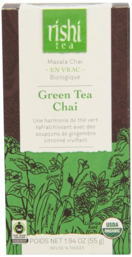 Rishi Tea Green Tea Chai, 1.94 Ounce