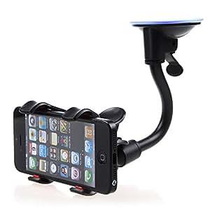 ECellStreet ™ Long Arm Universal Car soft tube Mount Bracket Holder for Intex Feel 360° Degree cellphone car holder