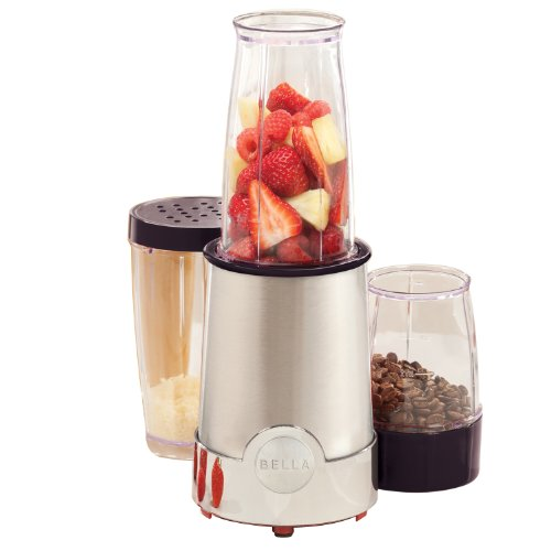 Bella 13866 12-Piece Rocket Blender, Stainless Steel And Chrome front-907428