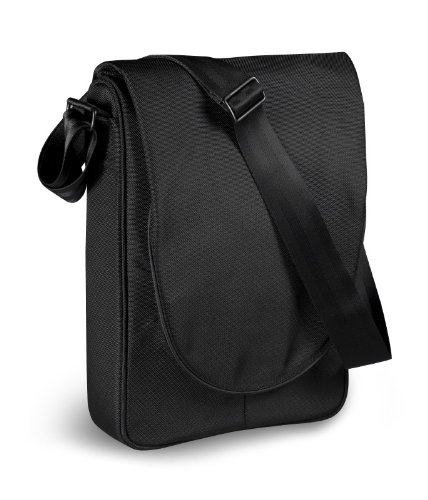 be.ez LEvertigo Messenger Bag--13 Inches (Black/Pumpkin)