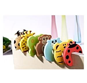 6x Baby safety Door Stoppers - 6 Different Animal designs