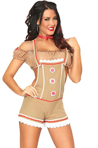 "3WISHES ""Sexy Gingy Costume"" Sexy Gingerbread Girl Costumes for Women"