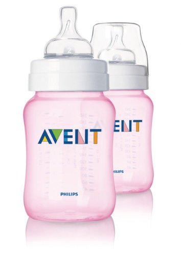Philips Avent Limited Edition Pink Girls Baby Bottles 2 Pack 260Ml New Scf684/27 Good Gift For Mom And Baby Fast Shipping Ship Worldwide