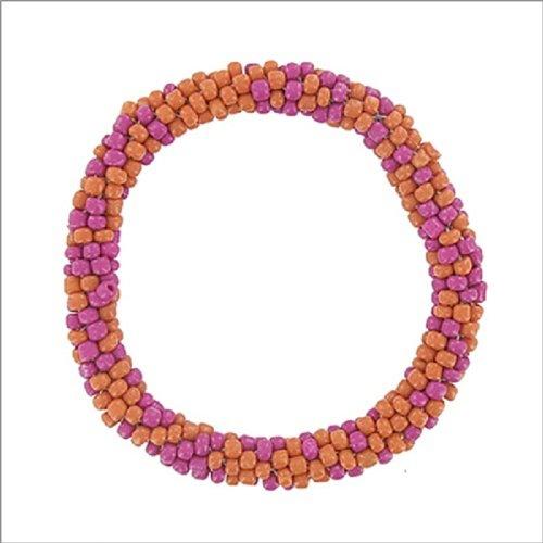 Multi Seed Bead Stretch Nepal Bracelet #041640