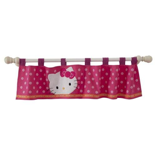 Lambs Ivy Hello Kitty Garden Window Valance Pink