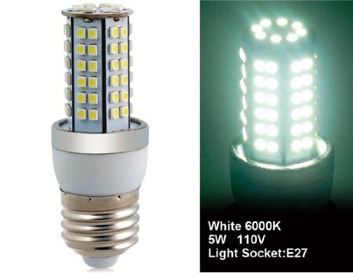 Wrui3528-80L-110V 3.5W E27 80 X 3528Smd White Led Corn Bulb