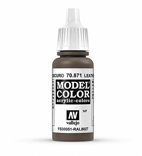 Vallejo Leather Brown Paint, 17ml