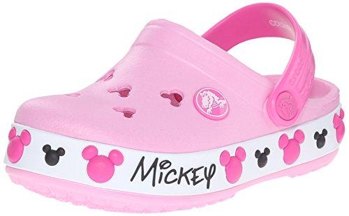 Crocs Crocband Mickey IV K Clog (Toddler/Little Kid), Carnation, 8 M US Toddler