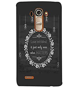 LG G4 LOVE IS NOT BLIND Back Cover by PRINTSWAG