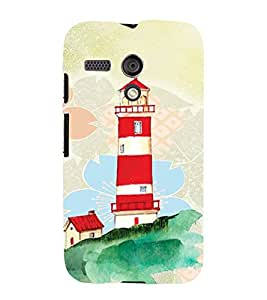 PrintVisa Travel Lighthouse Art 3D Hard Polycarbonate Designer Back Case Cover for Motorola Moto G