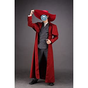 CTMWEB Hellsing Cosplay Costume - Alucard Outfit 1st Version Set XX-Small