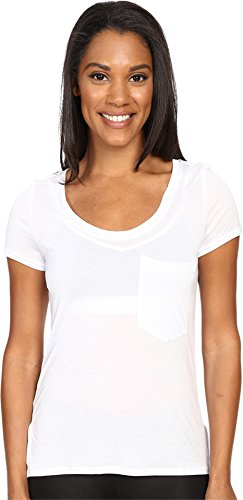 Alo Rise SS Top - Women's White / White Large