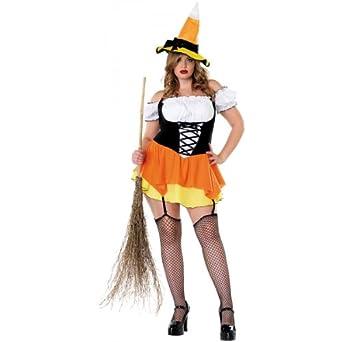 Candy Corn Witch Costume - Plus Size 1X/2X - Dress Size 16-20
